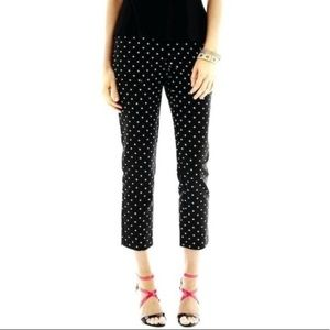 Liz Clairborne Career Black Polka Dot Pants Sz 14